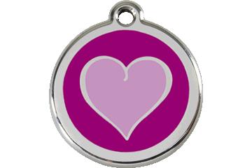 Red Dingo Médaillon en émail Heart Violet 01-HP-PU (1HPPS / 1HPPM / 1HPPL)