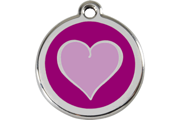 Red Dingo Enamel Tag Heart Purple 01-HP-PU (1HPPS / 1HPPM / 1HPPL)