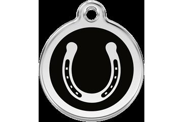 Red Dingo Médaillon en émail Horseshoe Noire 01-HS-BB (1HSBS / 1HSBM / 1HSBL)