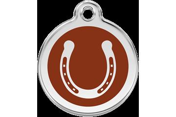Red Dingo Médaillon en émail Horseshoe Marron 01-HS-BR (1HSBRS / 1HSBRM / 1HSBRL)