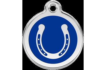 Red Dingo Médaillon en émail Horseshoe Bleu Foncé 01-HS-DB (1HSNS / 1HSNM / 1HSNL)