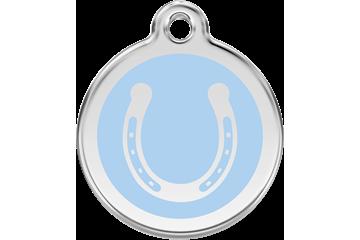 Red Dingo Médaillon en émail Horseshoe Bleu Clair 01-HS-LB (1HSLBS / 1HSLBM / 1HSLBL)