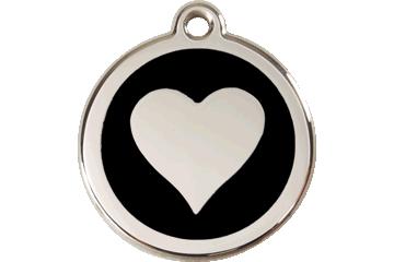 Red Dingo Médaillon en émail Heart Noire 01-HT-BB (1HTBS / 1HTBM / 1HTBL)