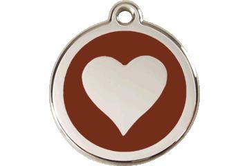 Red Dingo Médaillon en émail Heart Marron 01-HT-BR (1HTBRS / 1HTBRM / 1HTBRL)