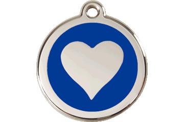 Red Dingo Médaillon en émail Heart Bleu Foncé 01-HT-DB (1HTNS / 1HTNM / 1HTNL)