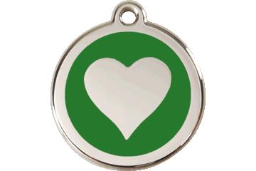 Red Dingo Médaillon en émail Heart Vert 01-HT-GR (1HTGS / 1HTGM / 1HTGL)