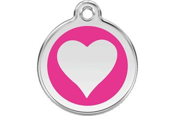 Red Dingo Médaillon en émail Heart Rose Bonbon 01-HT-HP (1HTHPS / 1HTHPM / 1HTHPL)