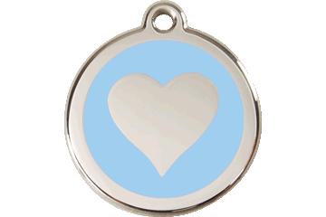 Red Dingo Médaillon en émail Heart Bleu Clair 01-HT-LB (1HTLBS / 1HTLBM / 1HTLBL)