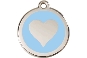 Red Dingo Enamel Tag Heart Light Blue 01-HT-LB (1HTLBS / 1HTLBM / 1HTLBL)