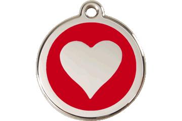 Red Dingo Médaillon en émail Heart Rouge 01-HT-RE (1HTRS / 1HTRM / 1HTRL)