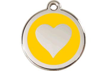 Red Dingo Médaillon en émail Heart Jaune 01-HT-YE (1HTYS / 1HTYM / 1HTYL)