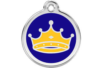 Red Dingo Enamel Tag King Dark Blue 01-KC-DB (1KCNS / 1KCNM / 1KCNL)