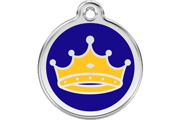 Red Dingo Enamel Tag King Dark Blue 01-KC-DB (1KCNS / 1KCNM / 1KCNL)
