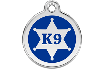 Red Dingo Enamel Tag Sheriff Dark Blue 01-KN-DB (1KNNS / 1KNNM / 1KNNL)