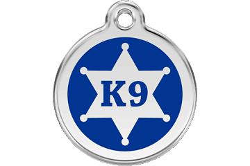 Red Dingo Médaillon en émail Sheriff Bleu Foncé 01-KN-DB (1KNNS / 1KNNM / 1KNNL)