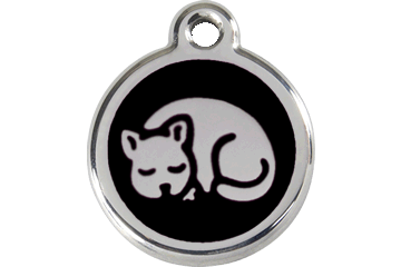 Red Dingo Enamel Tag Kitten Black 01-KT-BB (1KTBS)
