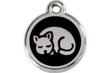 Red Dingo Enamel Tag Kitten Black 01-KT-BB (1KTBS)