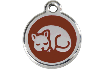 Red Dingo Enamel Tag Kitten Brown 01-KT-BR (1KTBRS)