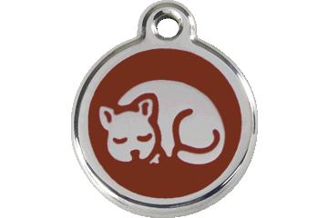 Red Dingo Enamel Tag Kitten Brown 01-KT-BR (1KTBRS)
