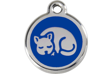 Red Dingo Enamel Tag Kitten Dark Blue 01-KT-DB (1KTNS)
