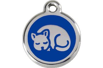 Red Dingo Médaillon en émail Chaton Bleu Foncé 01-KT-DB (1KTNS)