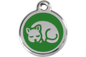 Red Dingo Enamel Tag Kitten Green 01-KT-GR (1KTGS)