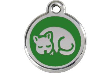 Red Dingo Enamel Tag Kitten Green 01-KT-GR (1KTGS)