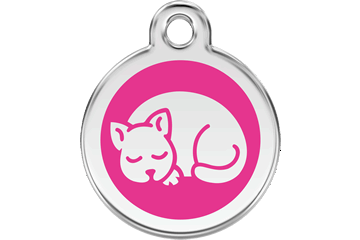 Red Dingo Enamel Tag Kitten Hot Pink 01-KT-HP (1KTHPS)