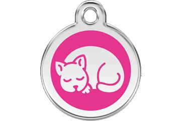 Red Dingo Enamel Tag Kitten Hot Pink 01-KT-HP (1KTHPS)