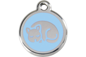 Red Dingo Enamel Tag Kitten Light Blue 01-KT-LB (1KTLBS)