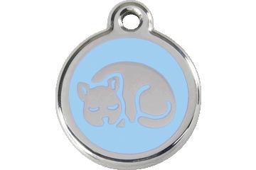 Red Dingo Enamel Tag Kitten Light Blue 01-KT-LB (1KTLBS)