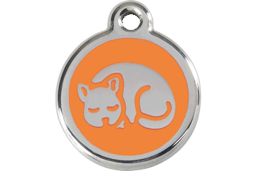Red Dingo Tiermarke mit Emaille Kitten Orange 01-KT-OR (1KTOS)