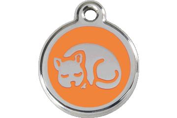 Red Dingo Enamel Tag Kitten Orange 01-KT-OR (1KTOS)