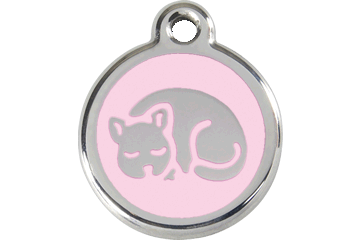 Red Dingo Enamel Tag Kitten Pink 01-KT-PK (1KTPKS)