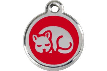 Red Dingo Médaillon en émail Kitten Rouge 01-KT-RE (1KTRS)