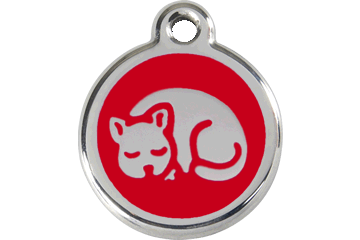 Red Dingo Enamel Tag Kitten Red 01-KT-RE (1KTRS)