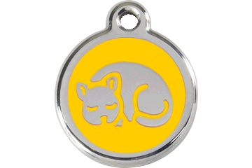 Red Dingo Enamel Tag Kitten Yellow 01-KT-YE (1KTYS)