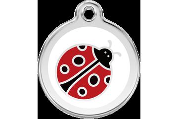 Red Dingo Tiermarke mit Emaille Ladybug : 01-LB-WT (1LBWS / 1LBWM / 1LBWL)