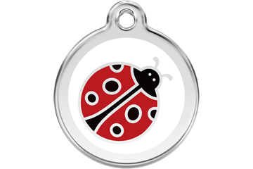 Red Dingo Tiermarke mit Emaille Ladybug &nbsp: 01-LB-WT (1LBWS / 1LBWM / 1LBWL)