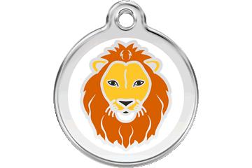 Red Dingo Tiermarke mit Emaille Lion : 01-LI-WT (1LIWS / 1LIWM / 1LIWL)