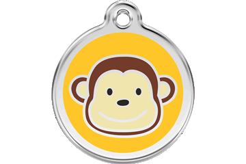 Red Dingo Tiermarke mit Emaille Monkey : 01-MK-YE (1MKYS / 1MKYM / 1MKYL)