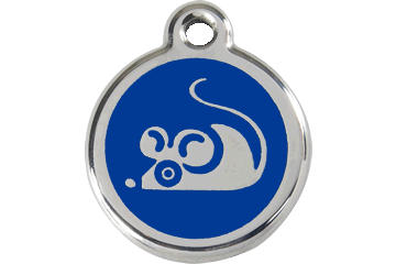 Red Dingo Enamel Tag Mouse Dark Blue 01-MS-DB (1MSNS)
