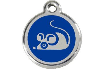 Red Dingo Médaillon en émail Mouse Bleu Foncé 01-MS-DB (1MSNS)