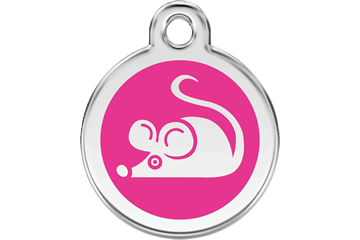 Red Dingo Enamel Tag Mouse Hot Pink 01-MS-HP (1MSHPS)