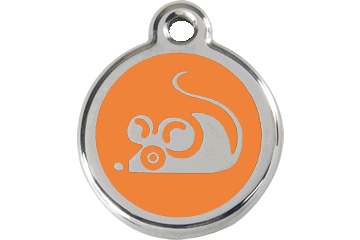 Red Dingo Médaille en émail Souris Orange 01-MS-OR (1MSOS)
