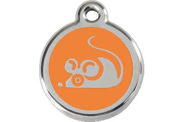 Red Dingo Médaillon en émail Mouse Orange 01-MS-OR (1MSOS)