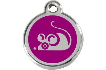 Red Dingo Médaillon en émail Mouse Violet 01-MS-PU (1MSPS)