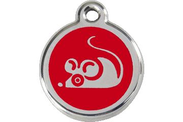 Red Dingo Médaillon en émail Mouse Rouge 01-MS-RE (1MSRS)
