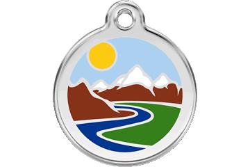 Red Dingo Médaillon en émail Mountains Bleu Clair 01-MT-LB (1MTLBS / 1MTLBM / 1MTLBL)