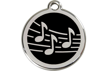 Red Dingo Enamel Tag Music Black 01-MU-BB (1MUBS / 1MUBM / 1MUBL)